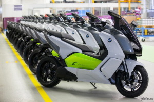Start Of Production For BMW's C Evolution Electronic Scooter