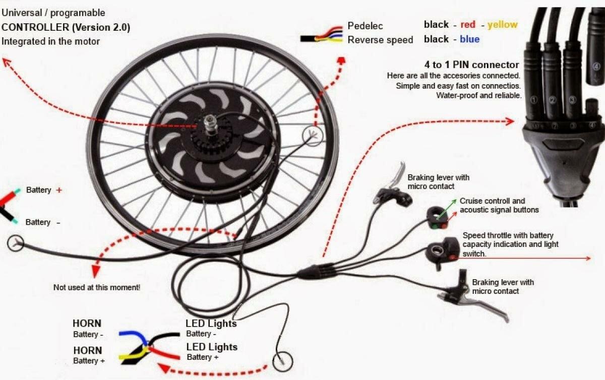 Схема электрочасти байка фото